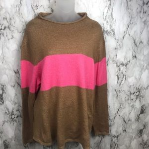 Old Navy Pullover Sweater Rollneck striped Size XL